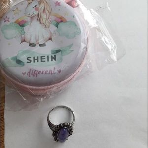 Size 8 ring, SHEIN change purse, unicorn